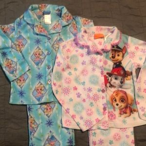 Disney Frozen & Paw Patrol Flannel Pajamas 4T